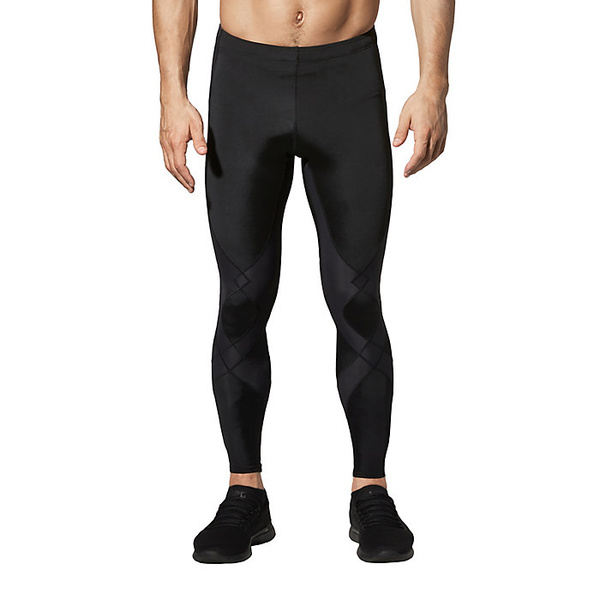 CW-X メンズ ランニング スポーツ CW-X Mens Stabilyx Joint Support Compression Tights Black