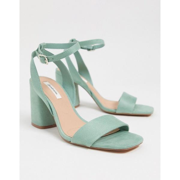 ストラディバリウス レディース サンダル シューズ Stradivarius heeled sandal in mint Green