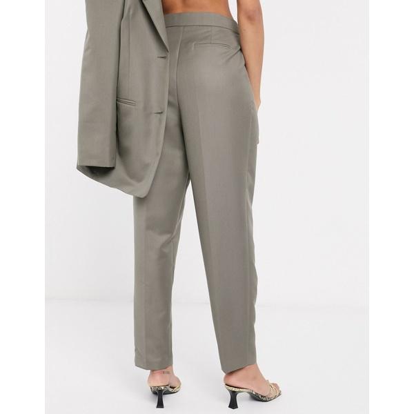 エイソス レディース カジュアルパンツ ボトムス ASOS DESIGN extreme dad suit pants in charcoal Gray