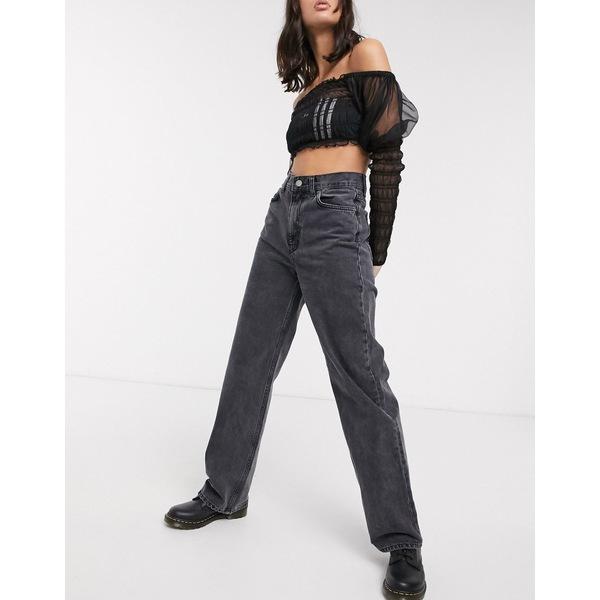 ドクターデニム レディース デニムパンツ ボトムス Dr Denim Echo super high rise straight leg jean in black Retro black