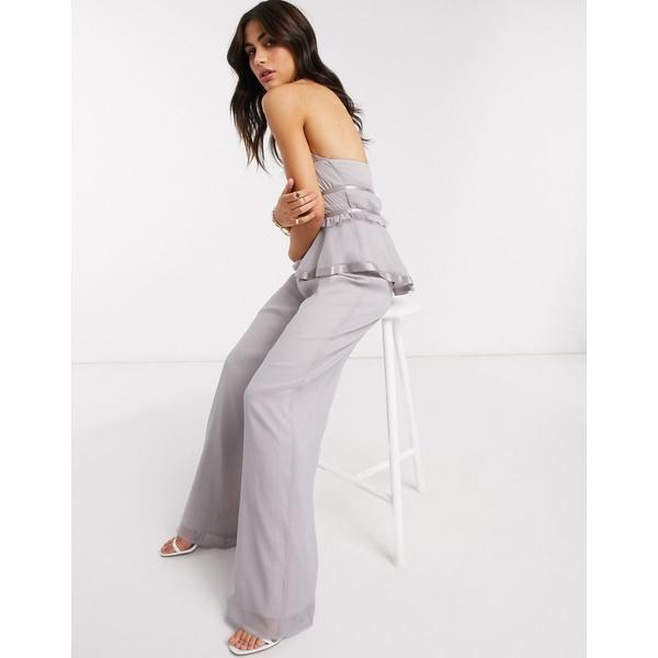 エイソス レディース カジュアルパンツ ボトムス ASOS DESIGN soft wide leg pants two-piece in Lilac Lilac
