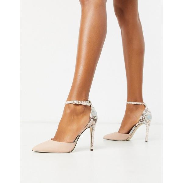 コールイットスプリング レディース ヒール シューズ Call It Spring by ALDO Iconis heeled pumps with ankle strap in pink Pink