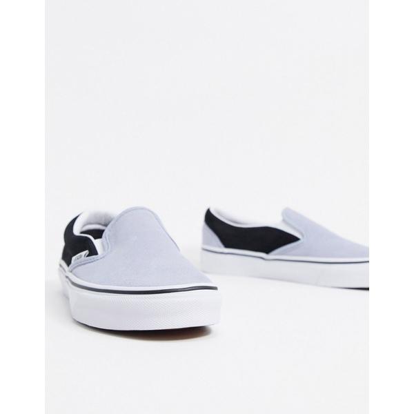 バンズ レディース スニーカー シューズ Vans Slip-On suede sneakers in blue/black Suede zen blue/black