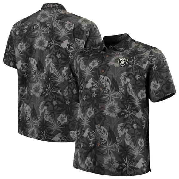 トッミーバハマ メンズ シャツ トップス Las Vegas Raiders Tommy Bahama Big & Tall Fuego Floral Button-Up Shirt Black