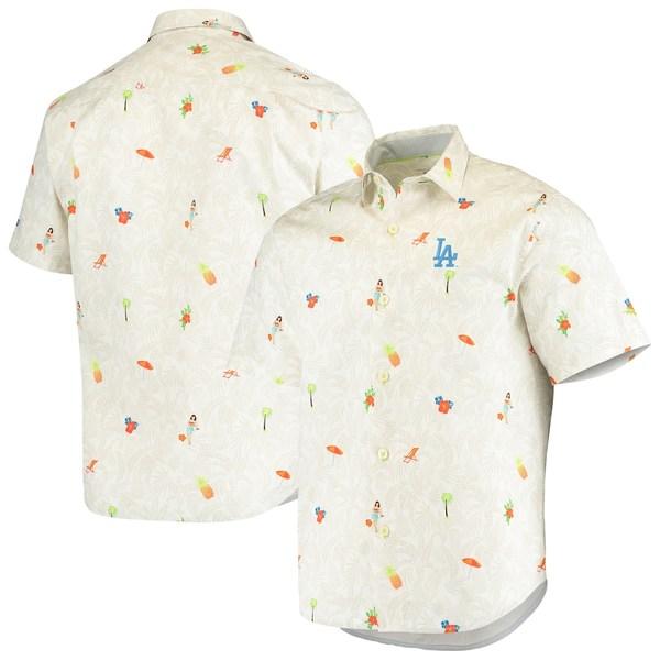 トッミーバハマ メンズ シャツ トップス Los Angeles Dodgers Tommy Bahama Beach-Cation Camp Button-Up Shirt White