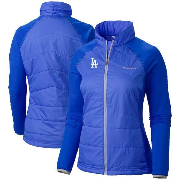 コロンビア レディース ジャケット&ブルゾン アウター Los Angeles Dodgers Columbia Women's Mach 38 Full-Zip Jacket Royal