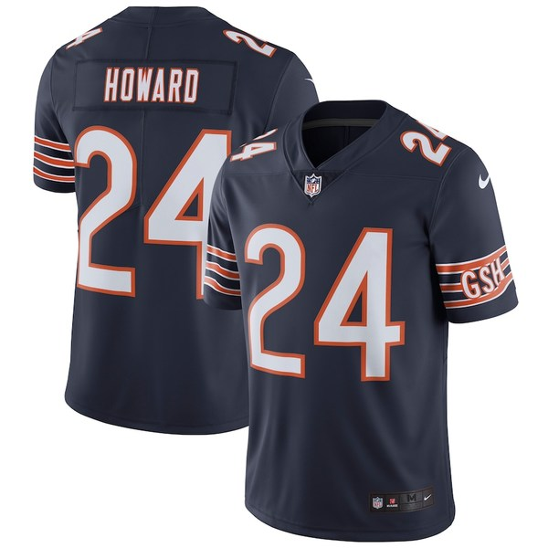 ナイキ メンズ シャツ トップス Jordan Howard Chicago Bears Nike Vapor Untouchable Limited Player Jersey Navy