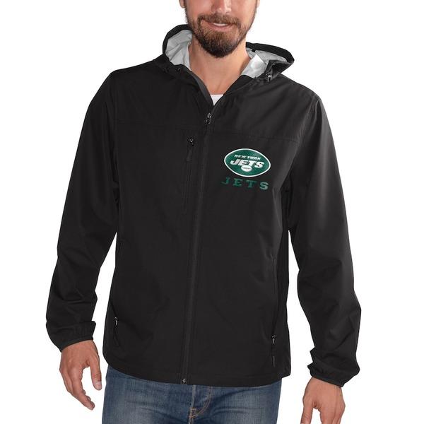 カールバンクス メンズ ジャケット&ブルゾン アウター New York Jets G-III Sports by Carl Banks Double Play Full-Zip Jacket Black