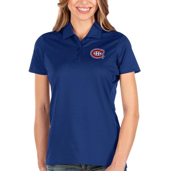 アンティグア レディース ポロシャツ トップス Montreal Canadiens Antigua Women's Balance Polo Blue
