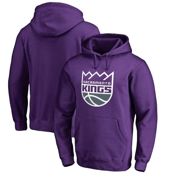 ファナティクス メンズ パーカー・スウェットシャツ アウター Sacramento Kings Fanatics Branded Primary Logo Pullover Hoodie Purple