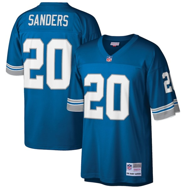 ミッチェル&ネス メンズ シャツ トップス Barry Sanders Detroit Lions Mitchell & Ness Big & Tall 1996 Retired Player Replica Jersey Blue