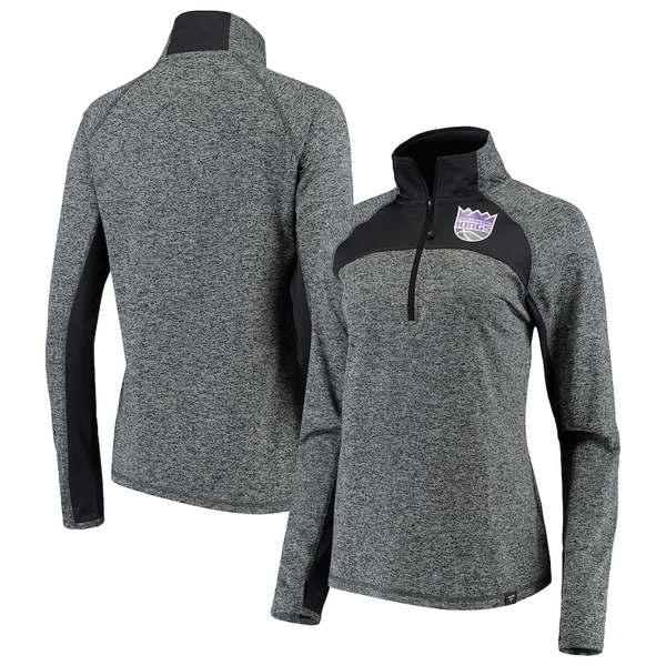 ファナティクス レディース ジャケット&ブルゾン アウター Sacramento Kings Fanatics Branded Women's Static Quarter-Zip Pullover Jacket Heathered Gray