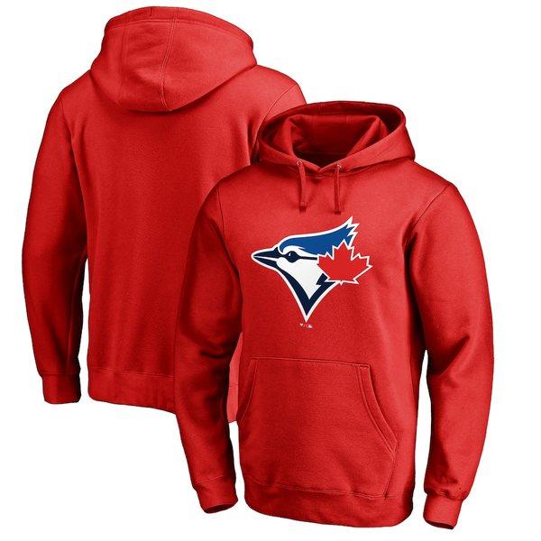 ファナティクス メンズ パーカー・スウェットシャツ アウター Toronto Blue Jays Fanatics Branded Logo Pullover Hoodie Red