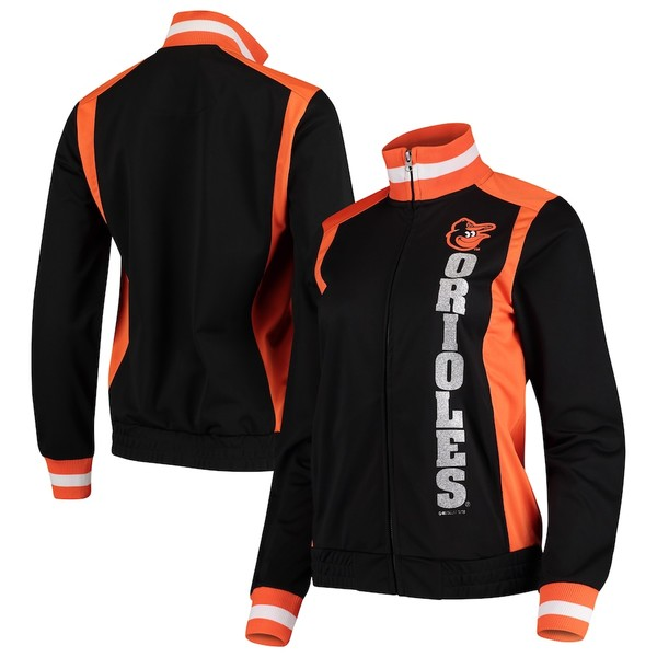 カールバンクス レディース ジャケット&ブルゾン アウター Baltimore Orioles G-III 4Her by Carl Banks Women's On Deck Full-Zip Track Jacket Black