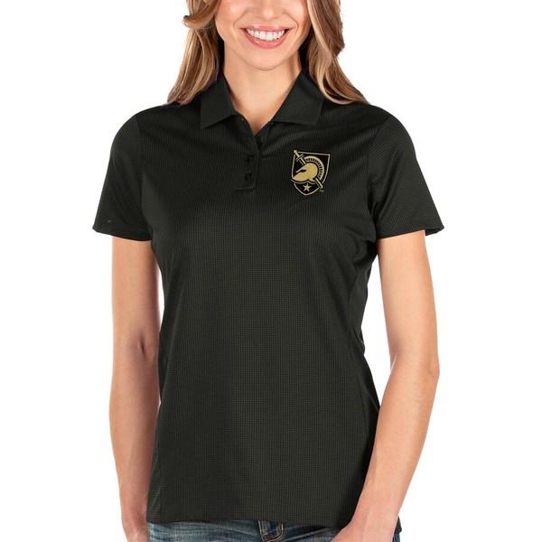 アンティグア レディース ポロシャツ トップス Army Black Knights Antigua Women's Balance Polo Black
