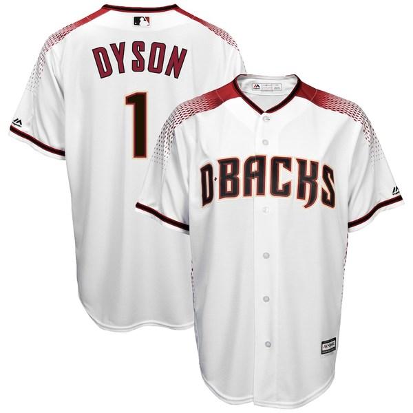 マジェスティック メンズ シャツ トップス Jarrod Dyson Arizona Diamondbacks Majestic Home Cool Base Player Jersey White