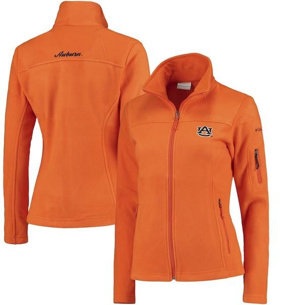 コロンビア レディース ジャケット&ブルゾン アウター Auburn Tigers Columbia Women's Give & Go Script Letters Fleece Full-Zip Jacket Orange