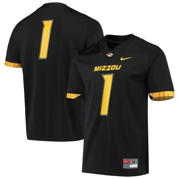 ナイキ メンズ シャツ トップス #1 Missouri Tigers Nike Untouchable Game Jersey Black