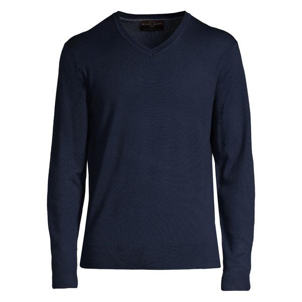 ブラック・ブラウン1826 メンズ ニット&セーター アウター V-Neck Merino Wool Sweater Navy