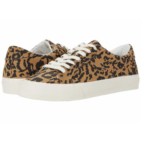 メイドウェル レディース スニーカー シューズ Sidewalk Low Top Sneakers Leopard Print Autumn Canvas