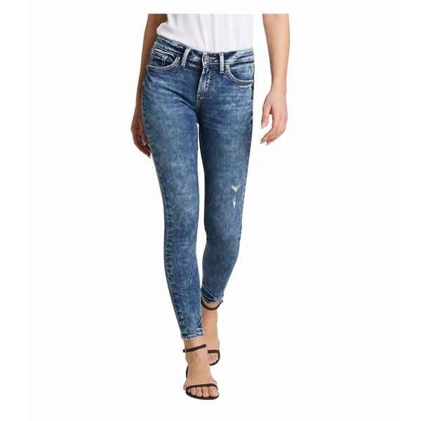シルバージーンズ レディース デニムパンツ ボトムス Avery High-Rise Curvy Fit Skinny Jeans L94116SSX366 Indigo