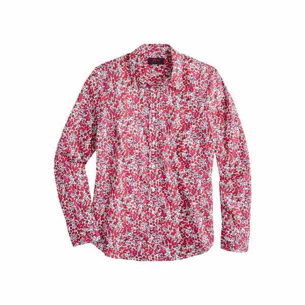 ジェイクルー レディース シャツ トップス Perfect Shirt in Liberty Wiltshire Berry Multi