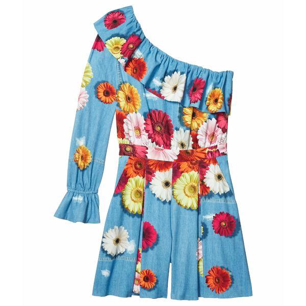 ブティックモスキーノ レディース ワンピース トップス One Shoulder Printed Dress Light Blue Multi
