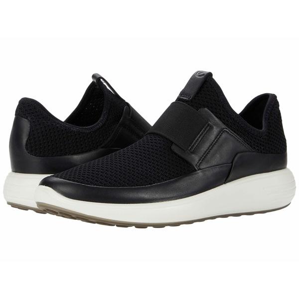 エコー レディース スニーカー シューズ Soft 7 Runner Slip-On Black/Black/Black Cow Leather/Textile