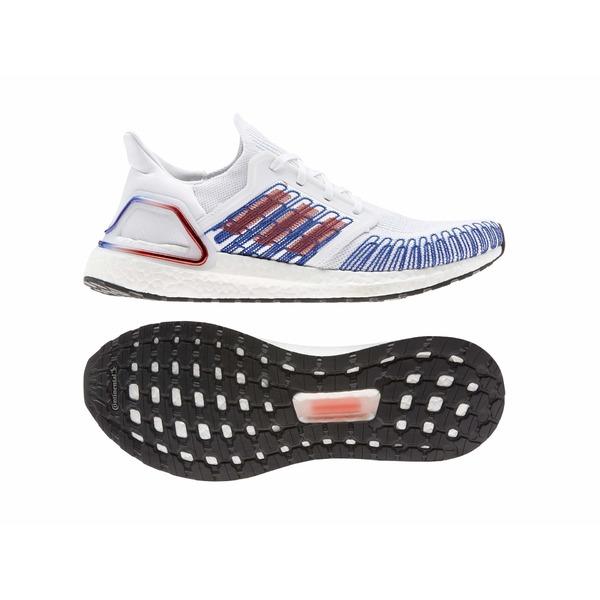 アディダス メンズ スニーカー シューズ Ultraboost 20 Footwear White/Scarlet/Team Royal Blue