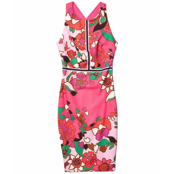 テッドベーカー レディース ワンピース トップス Marloww Pinata Buckle Detail Bodycon Dress Pink