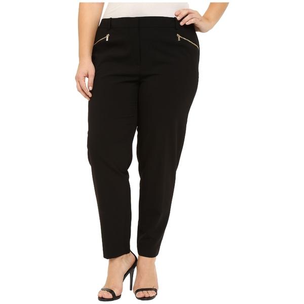 カルバンクライン レディース カジュアルパンツ ボトムス Plus Size Skinny Pants with Zippers Black
