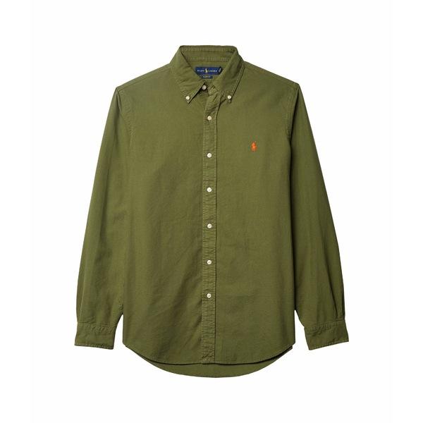 ラルフローレン メンズ シャツ トップス Garment Dyed Oxford Shirt Green