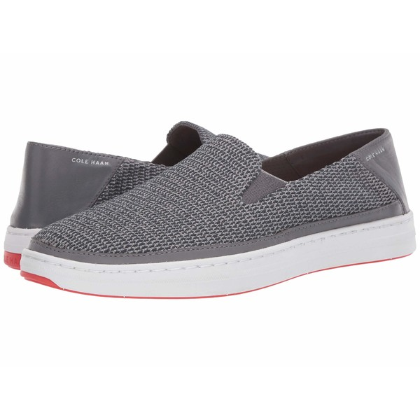 コールハーン メンズ スリッポン・ローファー シューズ Cloudfeel Knit Slip-On Sneaker Quiet Shade Gray/Paloma