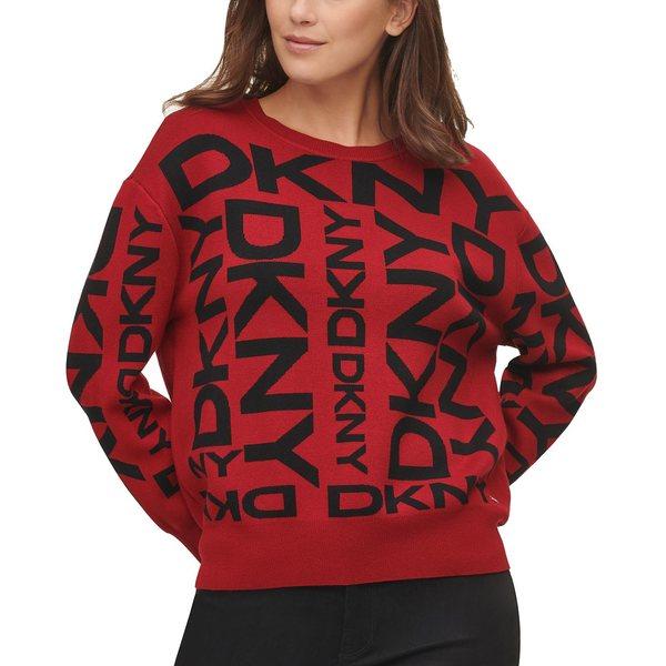 Logo Red キャラン アウター ニューヨーク レディース ダナ Sweater Exploded ニット&セーター Medium Pullover