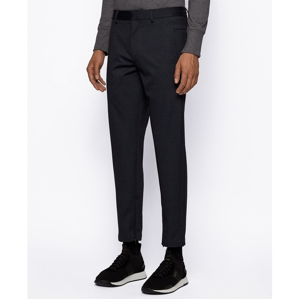 <title>ヒューゴボス メンズ ボトムス カジュアルパンツ Black 全商品無料サイズ交換 BOSS Men's Keen2-15 即出荷 Slim-Fit Trousers</title>
