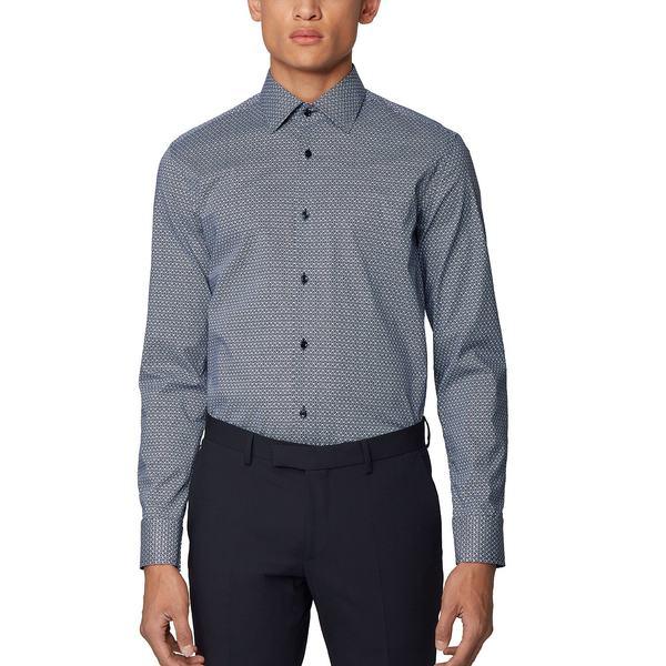 独特の上品 ヒューゴボス メンズ シャツ トップス BOSS Men&39;s Jango Slim-Fit Shirt Dark Blue, roryXtyle e3bafe56