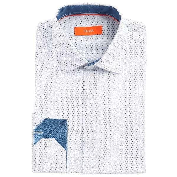 White メンズ No-Iron Men's Dot Performance Stretch Dress White トップス タリア シャツ Shirt Slim-Fit