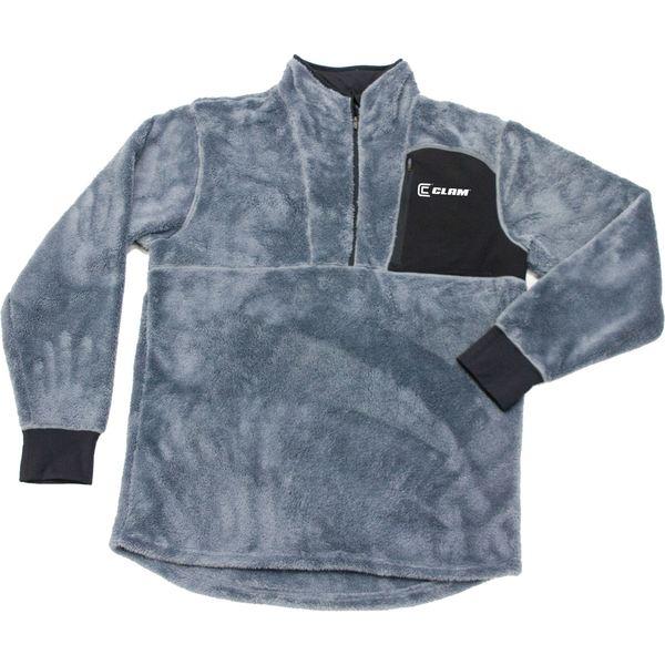 クラム アウトドア メンズ シャツ トップス Clam Men's IceArmor Sub Zero Base Layer Shirt Grey