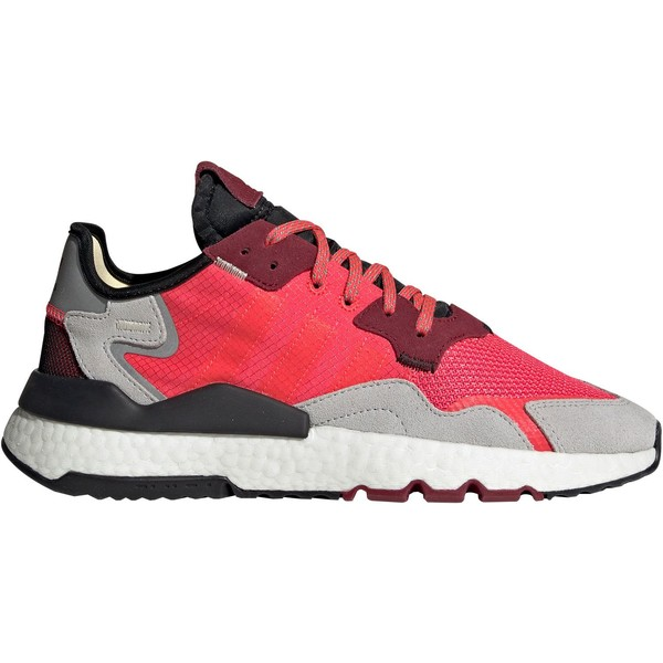 アディダス メンズ スニーカー シューズ adidas Originals Men's Nite Jogger Shoes Red/Grey