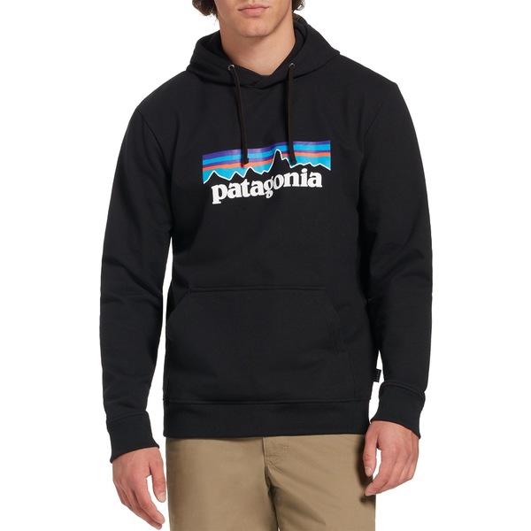 パタゴニア メンズ パーカー・スウェットシャツ アウター Patagonia Men's P-6 Logo Uprisal Hoodie Black