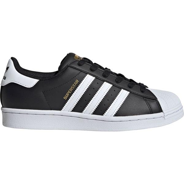 アディダス レディース スニーカー シューズ adidas Originals Women's Superstar Shoes Black/White/Gold