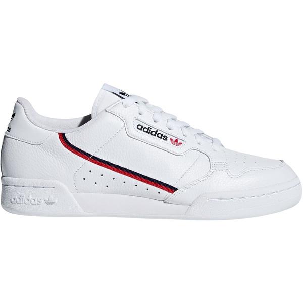 アディダス メンズ スニーカー シューズ adidas Men's Continental 80 Shoes White/Red