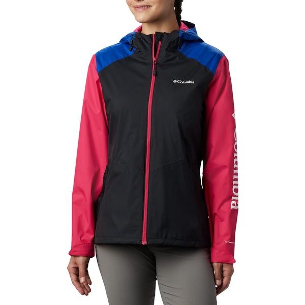 コロンビア レディース ジャケット&ブルゾン アウター Columbia Women's Inner Limits II Rain Jacket Black/Azul/CactusPink