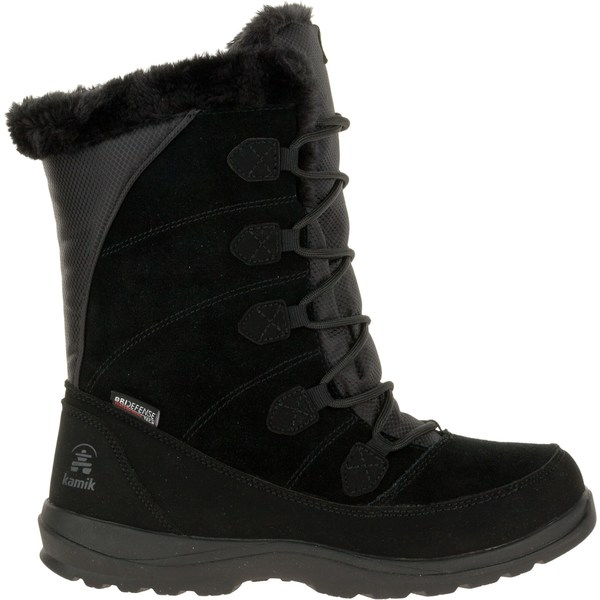 カミック レディース ブーツ&レインブーツ シューズ Kamik Women's Icelyn Suede Insulated Waterproof Winter Boots Black