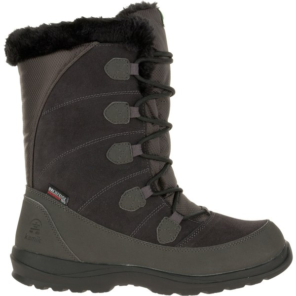 カミック レディース ブーツ&レインブーツ シューズ Kamik Women's Icelyn Suede Insulated Waterproof Winter Boots Charcoal