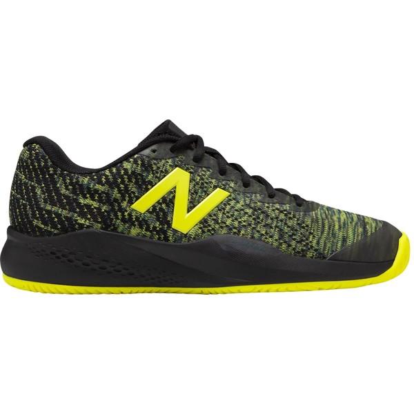 ニューバランス メンズ テニス スポーツ New Balance Men's 996v3 Tennis Shoes Black/Yellow