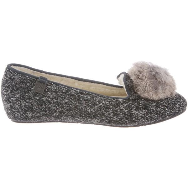 ベアパウ レディース スニーカー シューズ BEARPAW Women's Shae Slippers Black/Grey