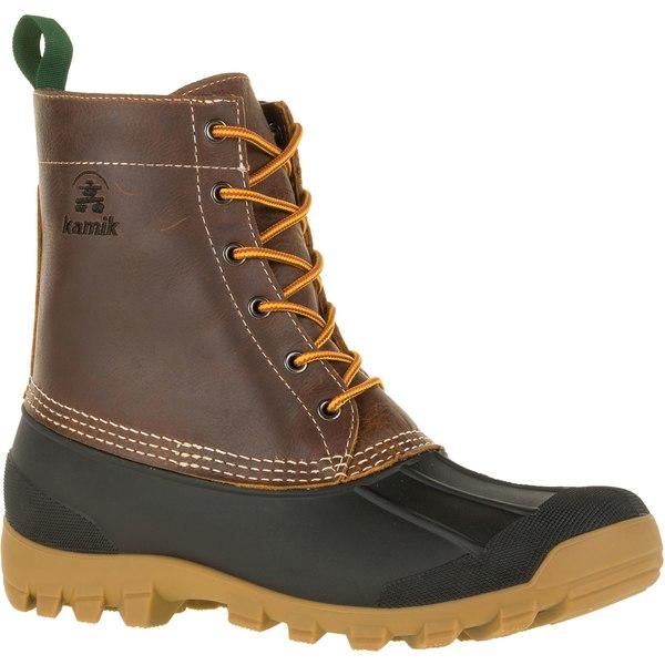 カミック メンズ ブーツ&レインブーツ シューズ Kamik Men's Yukon6 200g Waterproof Winter Boots DarkBrown