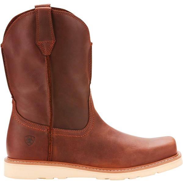 アリアト メンズ ブーツ&レインブーツ シューズ Ariat Men's Rambler Recon Work Boots MediumBrown