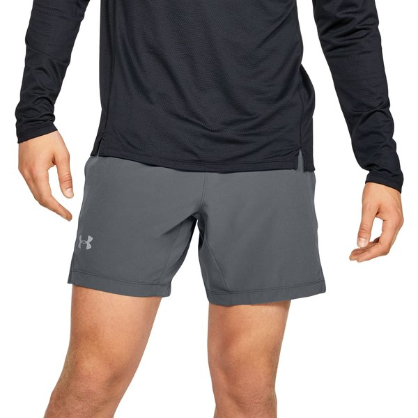 "アンダーアーマー メンズ カジュアルパンツ ボトムス Under Armour Men's Speedpocket 7"" Shorts (Regular and Big & Tall) PitchGray"